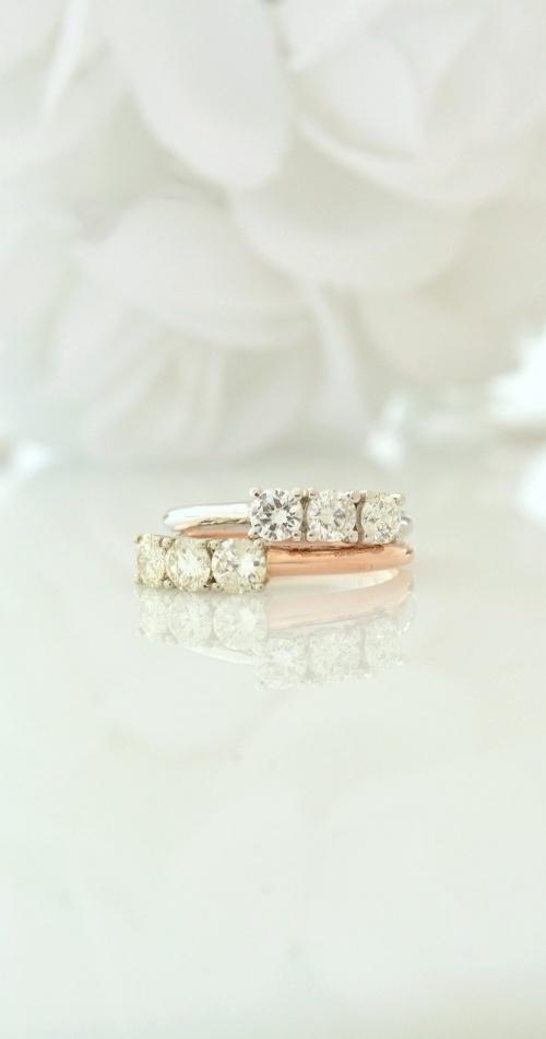 diamond, rose, white